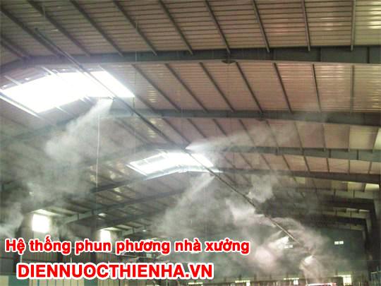 Hình ảnh thực tế phun sương làm mát nhà xưởng