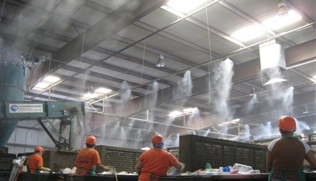 máy phun sương nhà xưởng