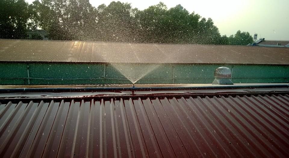 Hệ thống phun nước làm mát mái tôn